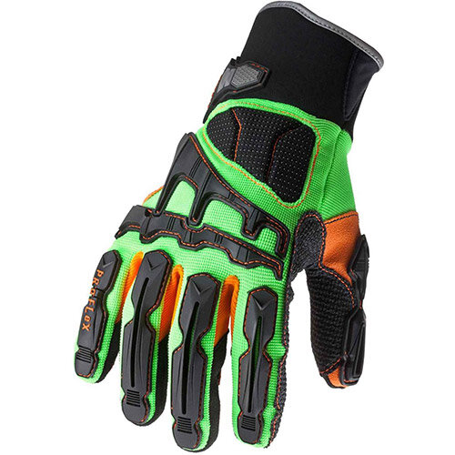 Ergodyne ProFLex 925F x Impact-Reducing XL Work Gloves with Dorsal Protection
