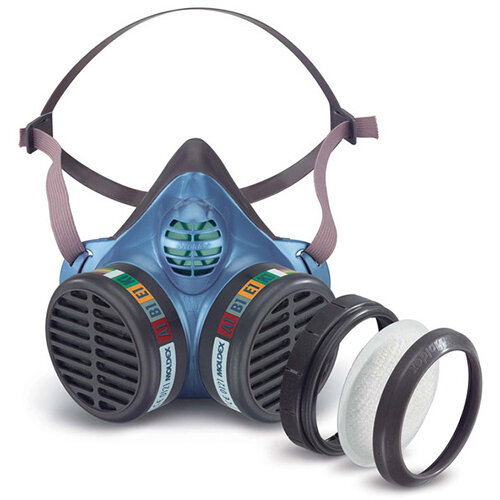 Moldex ABEK1P3 Half Mask with Replaceable Particulate Filters Blue Ref M5984