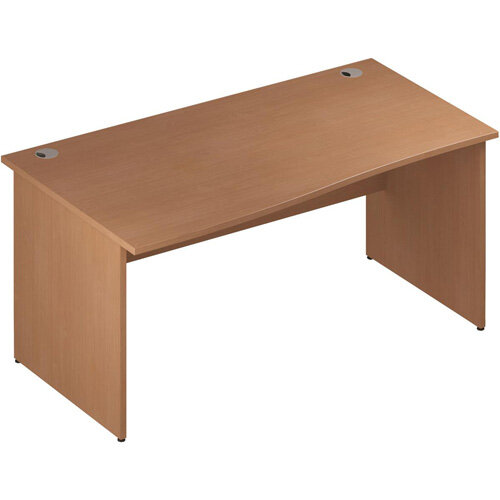 Wave Panel End Left Hand Office Desk Beech W1600mm