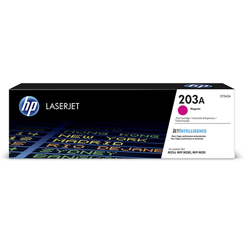 HP 203A Yield: 1,300 Pages Original LaserJet Toner Cartridge Magenta Ref CF543A