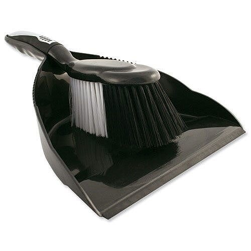 Bentley Dustpan and Brush Set Black/Chrome HL8001/G