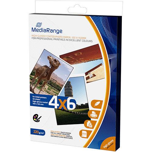MediaRange Inkjet Photo Paper 220g 100x150mm Ref MRINK104 (50 Sheets)