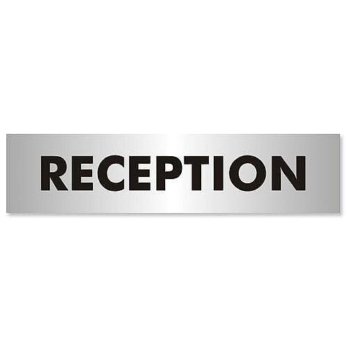 Stewart Superior Reception Sign Brushed Aluminium Acrylic 190x45mm