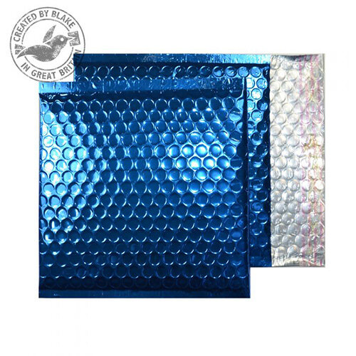 Purely Packaging Envelope P& 165x165mm Padded Met Blue Ref MBBLU165 [Pack 100]