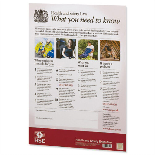 New Health and Safety Law Poster A2 (Pack of 1) FWC30