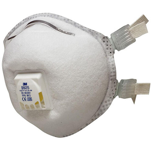 3M 9925 Cool Flow Welding Fume Valved Respirators FFP2 Classification White Pack of 10 Ref 9925