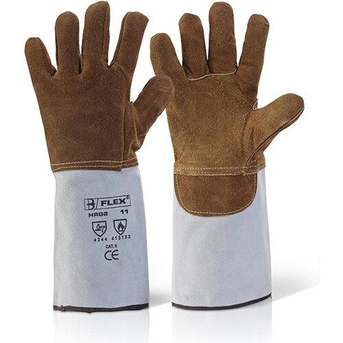 B-Flex High Quality Heat Resistant Gauntlet Pack of 5 Pairs Ref HRG2