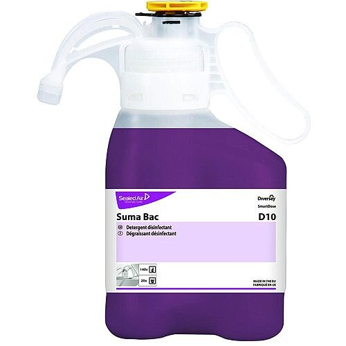 Diversey Suma Bac D10 1.4L Concentrated Liquid Detergent Sanitiser Pack of 2