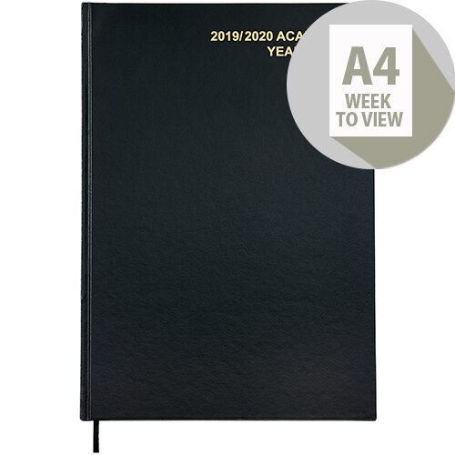 5 Star Office 2019/20 Academic Diary July-July Week-to-View A4 Black