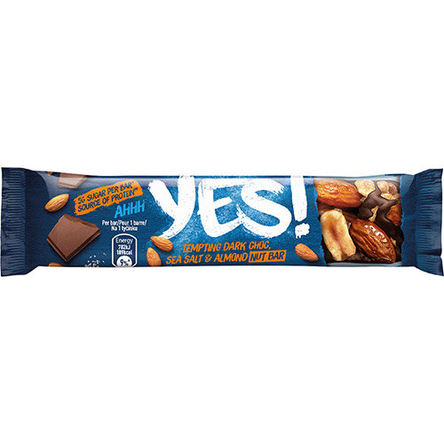 YES Dark Chocolate Seat Salt &Almond Nut Bar 32g Ref 12403827 Pack of 24