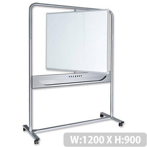 Nobo Mobile Magnetic Whiteboard Vertical Pivot 1200 x 900mm