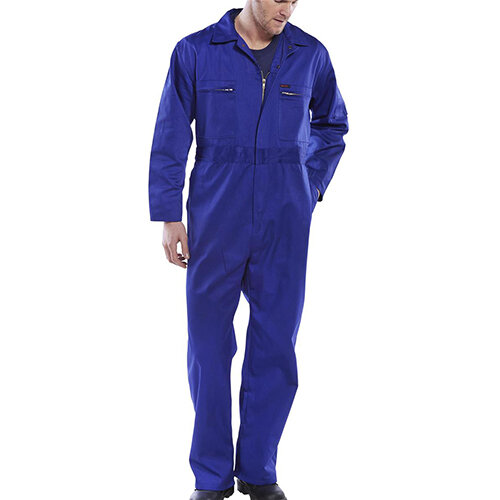 Super Click Workwear Heavy Weight Boiler Suit Work Overall Size 40 Royal Blue Ref PCBSHWR40
