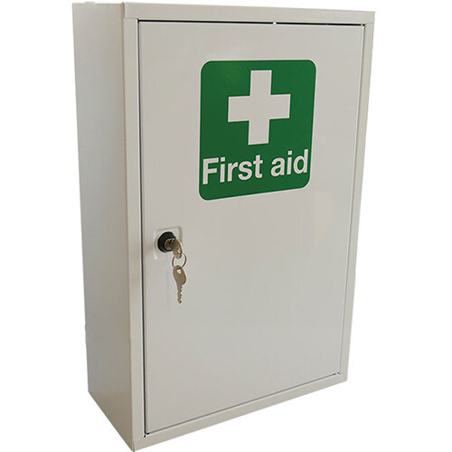 Click Medical Single Door Metal First Aid Cabinet Ref CM1120