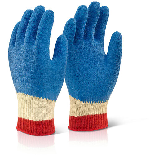 Click Kutstop Full Cuff Kevlar Latex Work Gloves Size S Blue Pack of 10 Pairs Ref KLGFCS