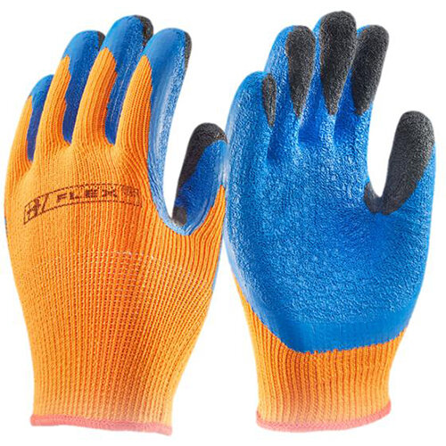 B-Flex Latex Thermo-Star Fully Dipped Gloves Size 9 Orange - Ideal for refrigeration, cold store, and winter conditions Ref BF3OR09