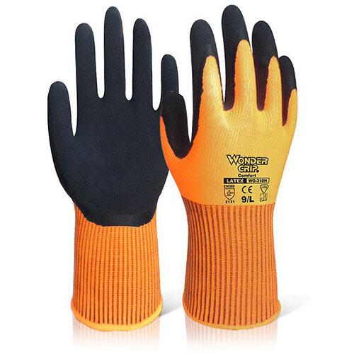 Wonder Grip WG-310H Comfort Hi-Vis Glove 7 Small Orange Ref WG310HORS Pack of 12