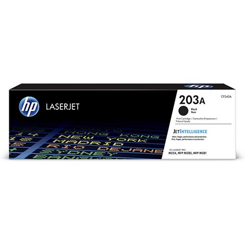 HP 203A Yield: 1,400 Pages Original LaserJet Toner Cartridge Black Ref CF540A