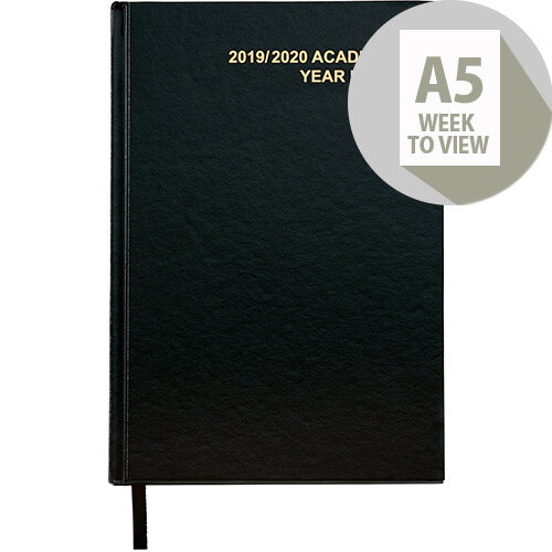 5 Star Office 2019/20 Academic Diary July-July Week-to-View A5 Black