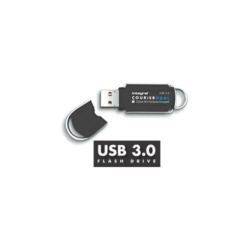 Integral Courier Dual USB 3.0 FIPS 197 32GB Ref INFD32COUDL3.0-197