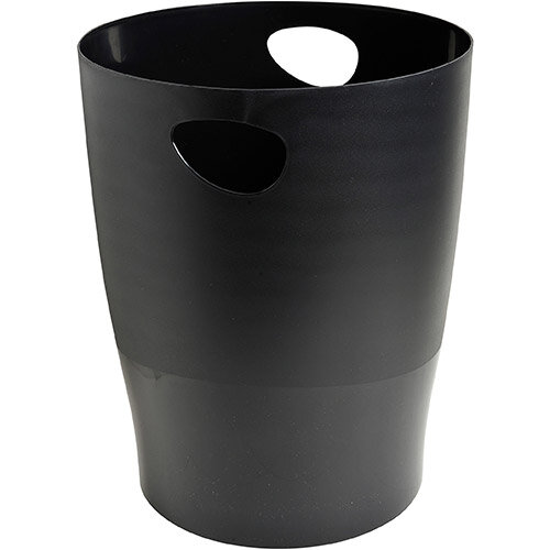 Exacompta Forever Waste Bin 15L Recycled Plastic Dia 263xH335 Black Ref 453014D