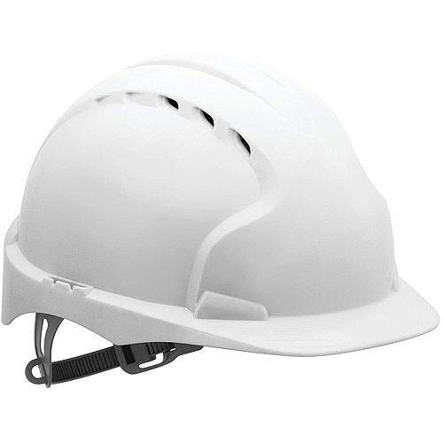 JSP EVO2 Vented Safety Helmet with Slip Ratchet Band White