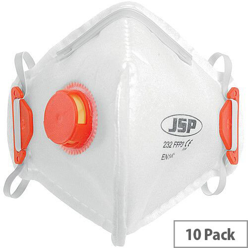 JSP FFP3V 232 Disposable Fold Flat Mask Pack of 10