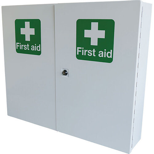 Click Medical Double Door Metal First Aid Cabinet Ref CM1121