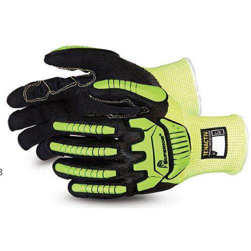 Superior Glove Tenactiv Cut-Resistant Anti-Impact Hi-Vis 10 Yellow SUSHVPNFBVB10