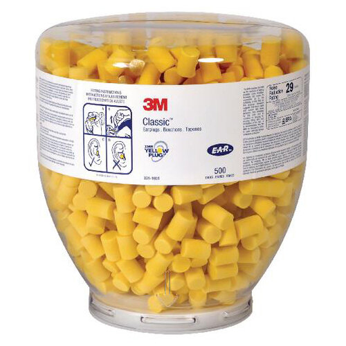 3M E-A-R Classic Refill Bottle Yellow Pack of 500 Earplugs Ref EARCRB