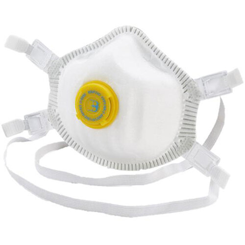 B-Brand P3 Premium Vented Mask Soft Foam Nose Seal White Pack of 5 Ref BBP3VD