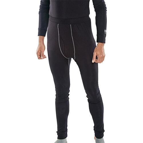 Click Workwear Base Layer Long John Trousers Size L Black Ref BLLJL