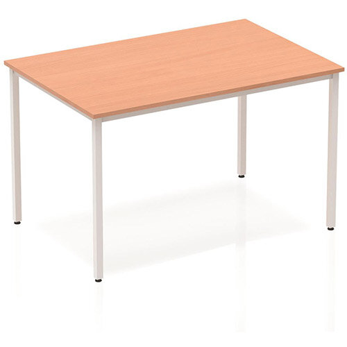Trexus 1200x800mm Rectangular Office Table Beech with Silver Frame