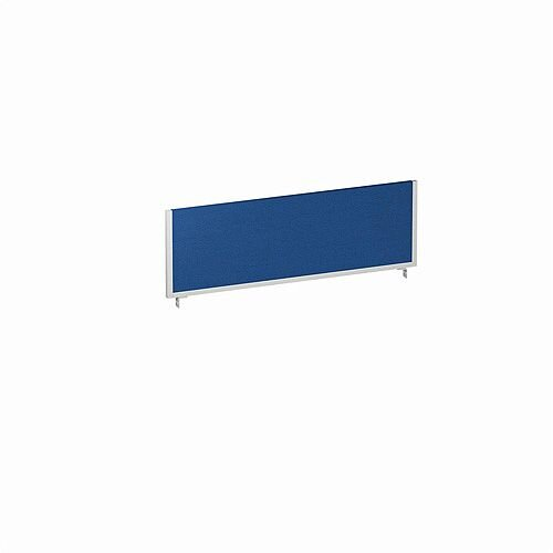 Office Desk Screen 1200mm Blue with Silver Frame