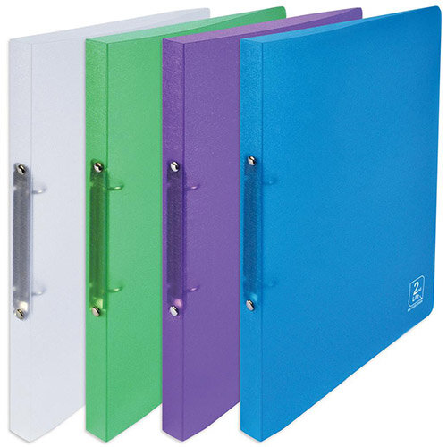 Elba 2nd Life A4 Ring Binders 2 O-Ring Polypropylene 20mm Spine Assorted Pack 4