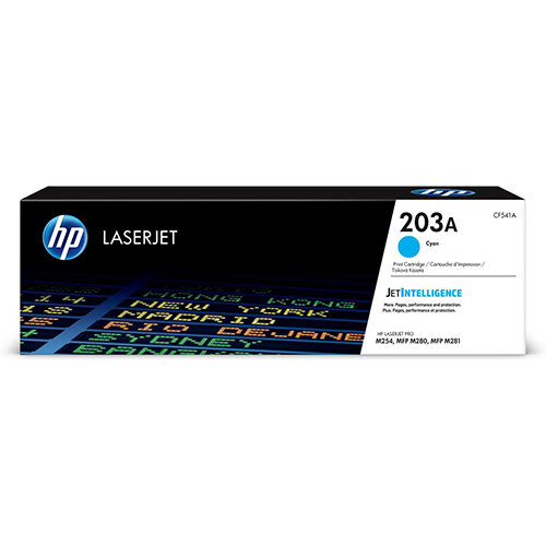 HP 203A Yield: 1,300 Pages Original LaserJet Toner Cartridge Cyan Ref CF541A