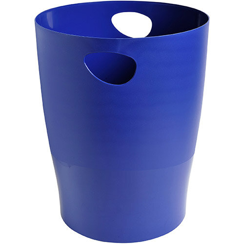 Exacompta Forever Waste Bin 15L Recycled Plastic Dia 263xH335 Blue Ref 453104D