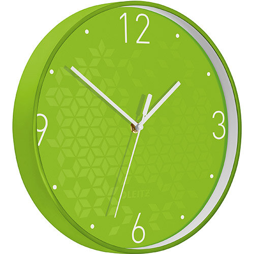 Leitz WOW Wall Clock 291x291x43mm Green Ref 90150054