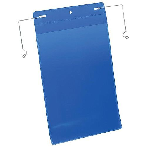 Durable A4 Portrait Pocket with Wire Hanger Dark Blue Pack of 50