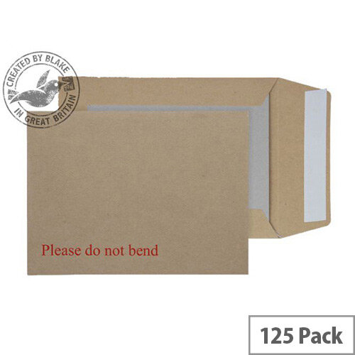 Purely Packaging Manilla Envelopes Board Backed Peel and Seal 190x140mm (Pack 125)