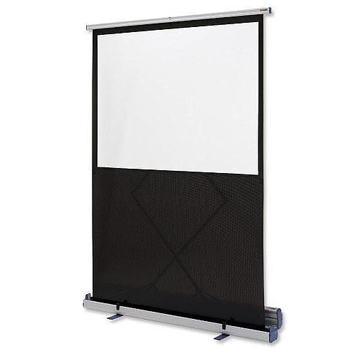 Nobo Portable Floor Standing Projection Screen 1500mm Diagonal Matt White 1901955