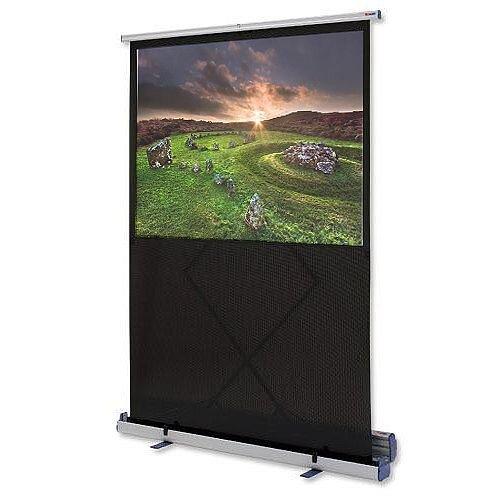 Nobo W1620 x H1220 Projection Screen Floor Standing 2000mm Diagonal Matt White 1901956