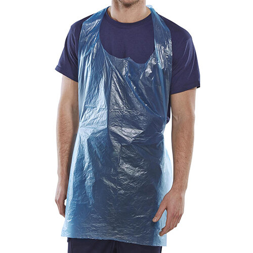 Click Once Disposable Apron 27 inch 107x69mm Blue Pack of 1000 Ref DAB42DP