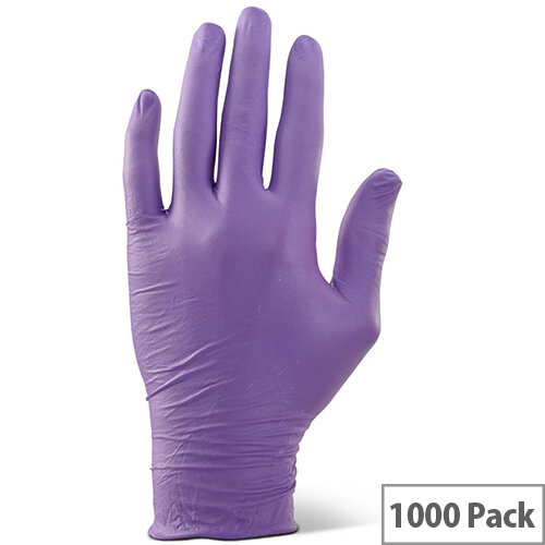 Click2000 Nitrile Examination Gloves Powder Free L Purple  Pack of 1000 Ref NDGPFPUL