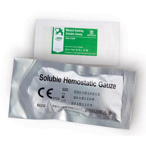 Cut-Eeze Haemostatic Soluble Dressing Gauze 5x5cm Ref CM0569