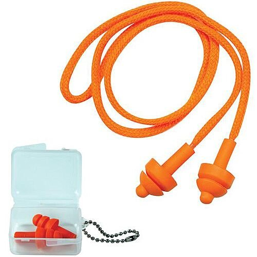 JSP Megaplug Ear Plugs with Cord and Carry Case SNR=24