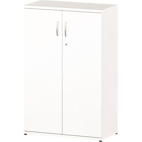 Medium Cupboard With 2 Shelves (3 Shelving Compartments) H1200xD400xW800mm White