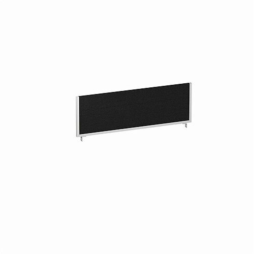 1200x400mm Office Desk Mounted Screen Black with Silver Frame