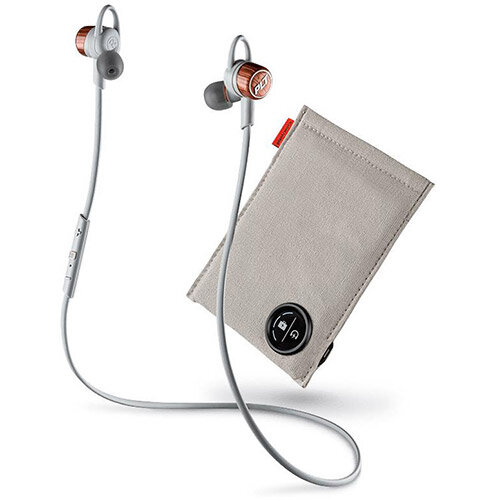 Plantronics BackBeat GO 3 Wireless Earbuds with Microphone and Charge Case Copper Orange