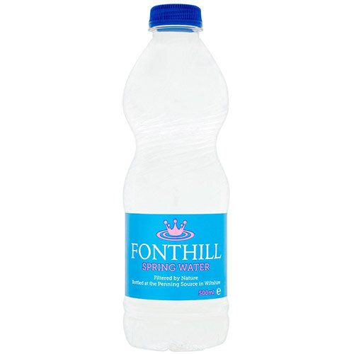 Fonthill Still Spring Water PET Plastic Bottle 500ml Ref FON5ML24 Pack of 24