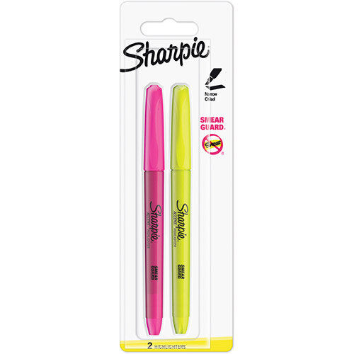 Sharpie Accent Pocket Highlighters Chisel Tip Assorted Fluorescent Ref S0907190 Pack of 2